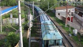 Pociąg towarowy rusza się długiego sposób zbiory
