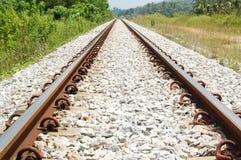 Pociąg Tropi Prowadzić horyzont zdjęcie stock