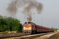 pociąg węglowego Obrazy Royalty Free