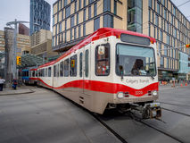 pociąg w Calgary Fotografia Royalty Free