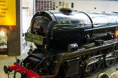 Pociąg w Krajowym Kolejowym muzeum w Jork, Yorkshire Anglia zdjęcie royalty free
