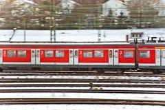 Pociąg w ruchu Zdjęcia Stock