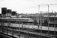 Pociąg wykłada w Naples Zdjęcia Stock