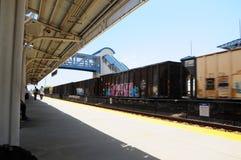 Pociąg z graffiti w Południowym Floryda zdjęcie royalty free