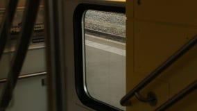Pociąg Zatrzymuje wnętrze zbiory wideo