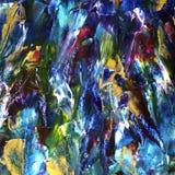 Pociągany ręcznie abstrakcjonistyczny akrylowy tło obraz stock