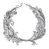 Pociągany ręcznie Abstrakcjonistyczny doodle wzór Fotografia Stock