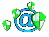 Pociągany ręcznie antivirus systemu nakreślenie Fotografia Royalty Free