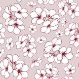 Pociągany ręcznie bezszwowy kwiatu wzór Zdjęcie Stock