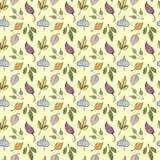 Pociągany ręcznie doodle jesieni bezszwowy wzór Obraz Stock