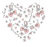 Pociągany ręcznie doodle serce Obraz Royalty Free