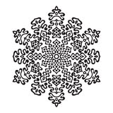 Pociągany ręcznie doodles płatek śniegu Zentangle mandala styl Zdjęcia Royalty Free
