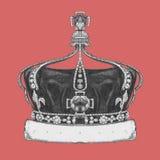 Pociągany ręcznie ilustracja korona royalty ilustracja