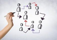 Pociągany ręcznie ludzie profilowych ikon z ręki writing Zdjęcia Royalty Free