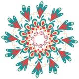 Pociągany ręcznie ornamentacyjna round koronki rama Obrazy Stock