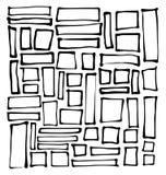 Pociągany ręcznie prostokąta i kwadrata kształty nad bielem Zdjęcia Stock
