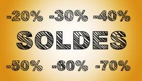 Pociągany ręcznie sprzedaż tekst Zdjęcia Stock