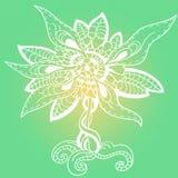 Abstrakcjonistyczny kwiat Ilustracja Wektor