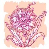 Abstrakcjonistyczny kwiat Ilustracji