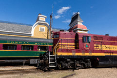 Pociągi przy Conway Sceniczną koleją Fotografia Stock