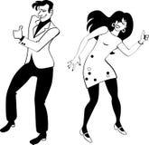 Pociągniecie wycieczkowicza taniec royalty ilustracja