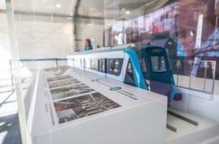 Pociągu model Sydney metro jest Australia's transportu publicznego dużym projektem Nowe metro por?cza woli us?ugi zaczynaj? w 2 fotografia royalty free