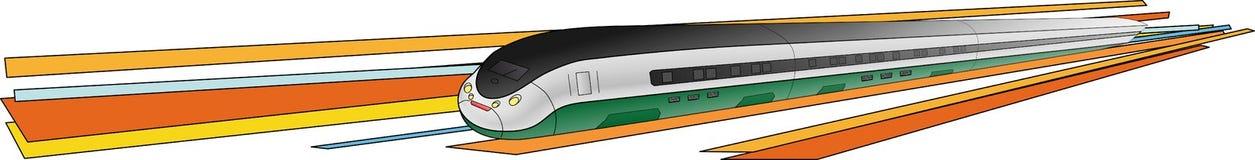 pociągu naddźwiękowy wektor Fotografia Stock