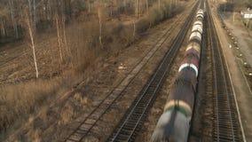 Pociągu towarowego jeździecki powietrzny wideo zdjęcie wideo