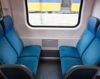 Pociągów siedzenia Zdjęcie Royalty Free