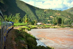 Pociąg Cusco Zdjęcia Stock