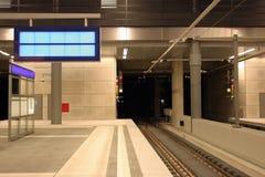 pociąg do stacji Zdjęcia Stock