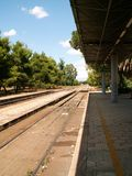 pociąg do stacji Obraz Stock