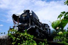 Pociąg i niebo Fotografia Royalty Free