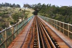 pociąg linii most. Zdjęcie Royalty Free