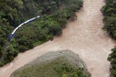 Pociąg od Cusco Aguas Calientes Obraz Royalty Free