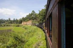 Pociąg od Nuwara Eliya Kandy Obraz Royalty Free