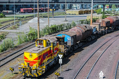 Pociąg od Thyssen Stal Firma Zdjęcie Royalty Free