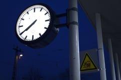 pociąg rano czeka Zdjęcie Royalty Free