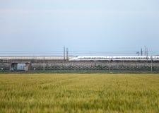 pociąg shinkansen kula Japan Zdjęcia Royalty Free