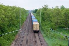 Pociąg towarowy Fotografia Royalty Free