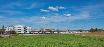Pociąg w Dubendorf Zdjęcia Stock