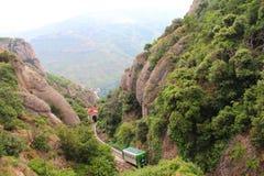 Pociąg w górach Zdjęcia Stock