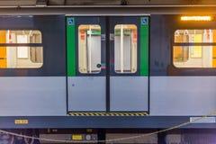 Pociąg w Milan Fotografia Stock