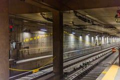 Pociąg w Milan Zdjęcie Stock
