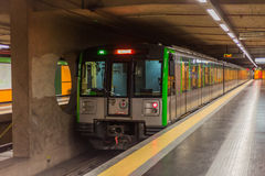 Pociąg w Milan Obrazy Stock