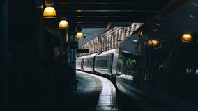 Pociąg w tunelu Zdjęcia Stock