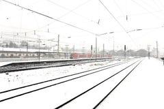 Pociąg w Wintertime Zdjęcia Stock