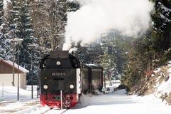 Pociąg w zimie Zdjęcia Stock