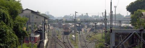 Pociągi i linie kolejowe Obrazy Royalty Free