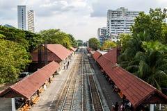Pociągi, jeden typ transport w Tajlandia Zdjęcie Royalty Free